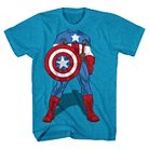 Boys' Marvel Captain America Graphic T-Shirt - Turquoise XS