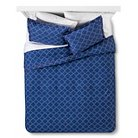 Dotted Diamond Duvet Cover Set - Full/Queen - Navy - 2 pc - Brooklyn & Bond™