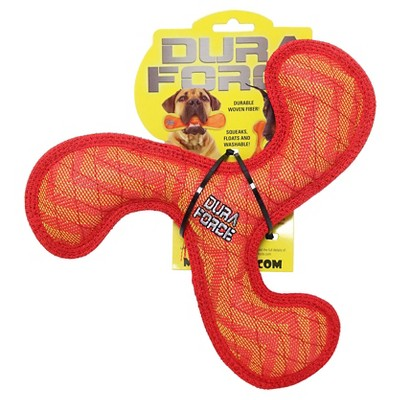 "DuraForce Dog Toy Booomerang Red-1.5""x10.5""x10.5"""