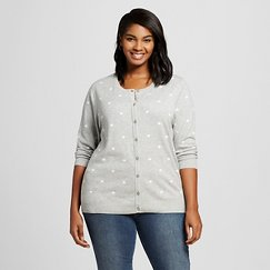 Women's Plus Size 3/4 Sleeve Favorite Cardigan - Merona ™