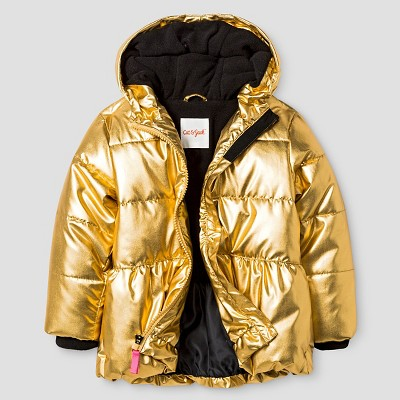 Baby Girls' Puffer Jacket Baby Cat & Jack™ - Gold 12M