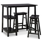 3 Piece Pub Set with Saddle Stools and Shelving - Espresso - Threshold™