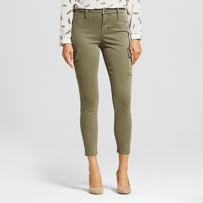 Women's Utility Pants Olive 0 - Mossimo™