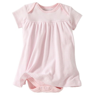 Burt's Bees Baby™ Newborn Bee Essentials Short Sleeve Striped Dress - Blossom 0-3M