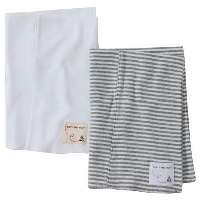 Burt's Bees Baby™ Newborn Bee Essentials 2 Pack Burp Cloths - Honeybee/Heather Grey