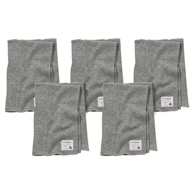 Burt's Bees Baby™ Newborn Bee Essentials 5 Pack Burp Cloths - Heather Grey