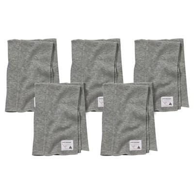 Burt's Bees Baby™ Newborn Bee Essentials 5 Pack Burp Cloths - Heather Grey