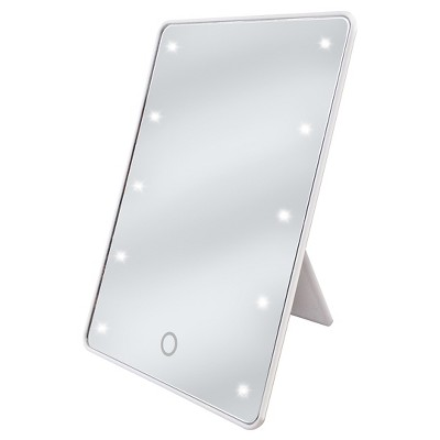 LED Touch Cosmetic Mirror with Easel Back True White Be U