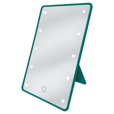 LED Touch Cosmetic Mirror with Easel Back Cloudy Turquoise Be U