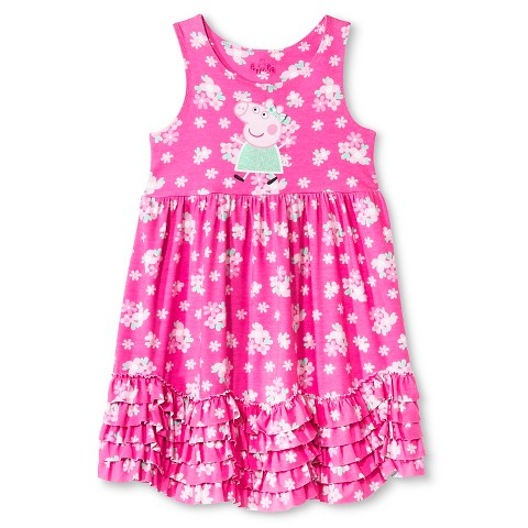 Toddler girls peppa pig maxi dress pink product details page