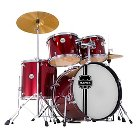 Mapex Voyager Standard 5-Piece Drum Set with Cymbals - Dark Red