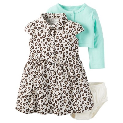 Just One You™Made by Carter's® Baby Girls' 2 Piece Animal Print/Mint Dress Set - NB