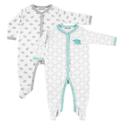 Luvable Friends Baby Boys' 2 Pack Sleep N' Play - Elephant 0-3M