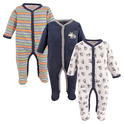 Luvable Friends Baby Boys' 3 Pack Zipper Sleep N' Play - Dog 0-3M