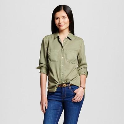 Women's Tencel® Favorite Shirt Healthy Green XS-Merona™