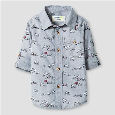 Toddler Boys' Button Down Shirt - Spa Blue 2T - Genuine Kids™ from Oshkosh®