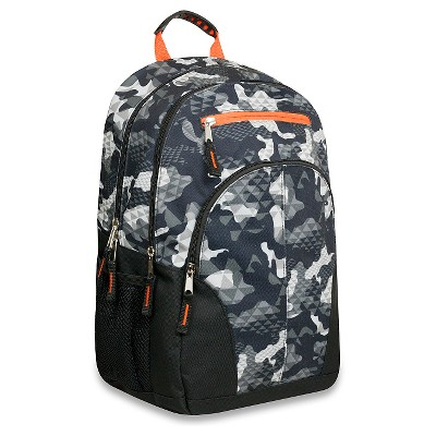 Trailmaker Double Compartment Backpack Camouflage Print - Black