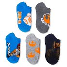 Star Wars Girls' The Force 5-Pack No Show Socks - Blue 9-2.5