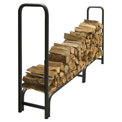 Pleasant Hearth 8' Heavy Duty Log Rack - Black