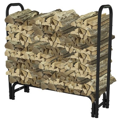 Pleasant Hearth 4' log rack 32mm - Black