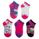 Peanuts Girls' Snoopy 5-Pack Ankle Socks - Pink 9-2.5