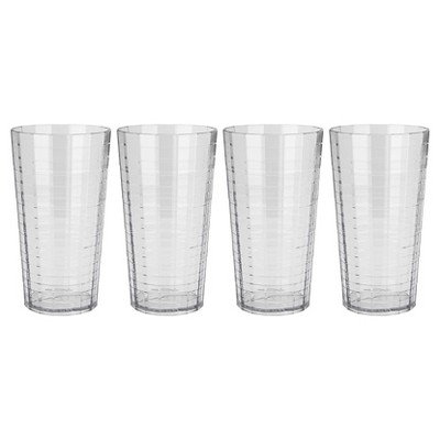 Zak! 22oz Highball Tumbler Set of 4 - Clear
