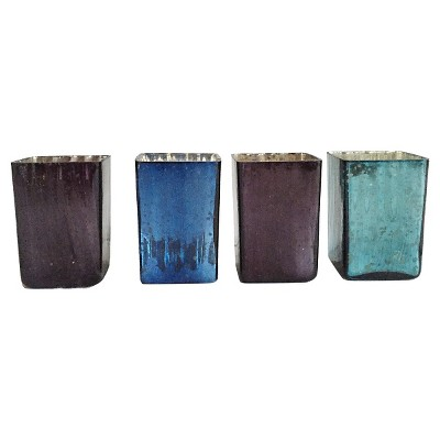 "Home Port Midnight Votives set of 4 (2.5""x2.5""x3.5"")"