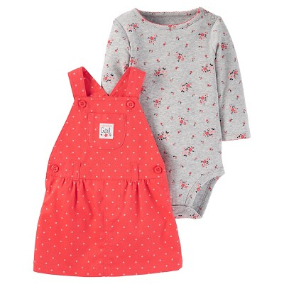 Just One You™Made by Carter's® Baby Girls' 2 Piece Skirtall Set - Red - NB