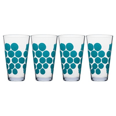 Zak! 19oz Highball Tumbler Set of 4 - Azure Dots