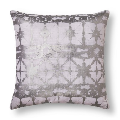 Metallic Shibore Decorative Pillow Silver - Xhilaration™