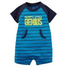 Just One You™Made by Carter's® Baby Boys' Mommy's Little Genius Romper - Blue 12M