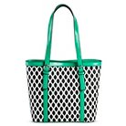 Bueno of California Women's Print Handbag Tote - Black/White