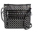 Bueno of California Women's Faux Leather Print Crossbody Handbag - Black/White