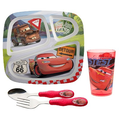 Zak! Cars Dinnerware Set of 4