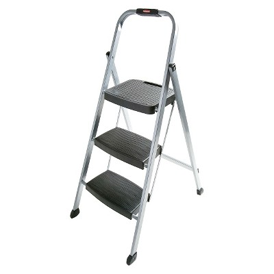 Rubbermaid Folding 3-Step Steel Frame Stool