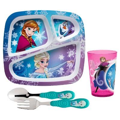 Zak! Frozen Girl Line Dinnerware Set of 4