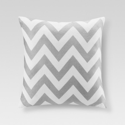 "Chevron Throw Pillow Grey (20""x20"") - Threshold™"