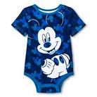Disney Mickey Mouse Newborn Boys' Bodysuit - Blue NB