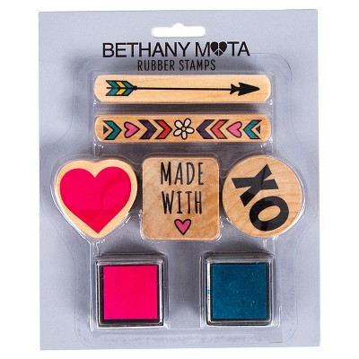 Bethany Mota Love Rubber Stamps with Ink
