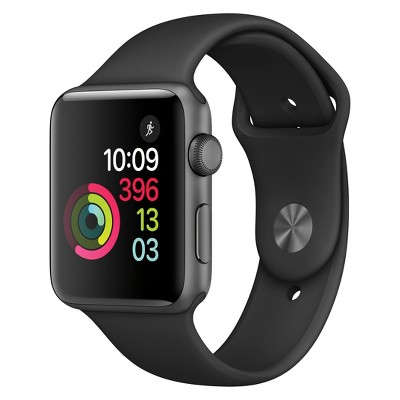 Apple® Watch Series 2 42mm Space Gray Aluminum Case with Black Sport Band