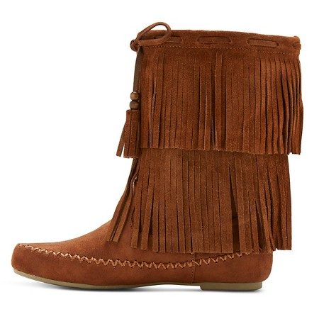 s fringe moccasin boots mossimo supply co