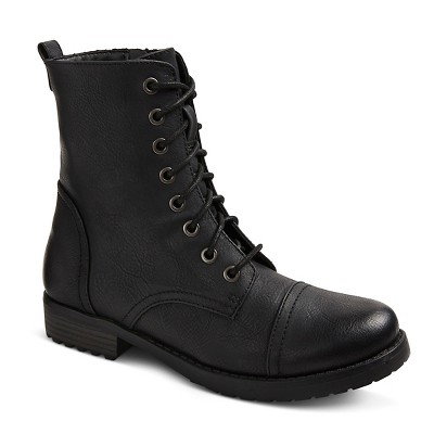 Women's Brit Combat Boots - Black 6