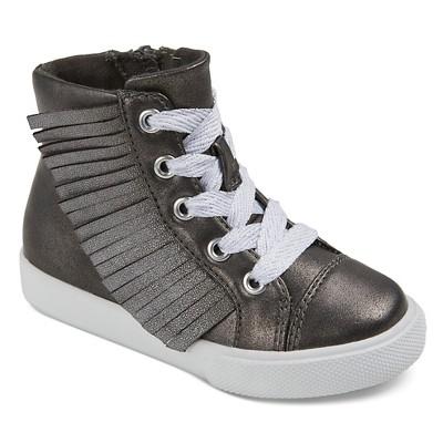 Toddler Girls' Jaye Metallic Fringe High Top Sneakers Cat & Jack™ - Grey 5