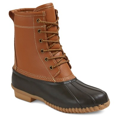 Women's Hudson Leather Duck Boots - Light Tan 9 - Merona™