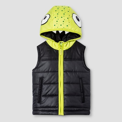 Baby Boys' Monster Layering Vest Baby Cat & Jack™ - Charcoal 12 M