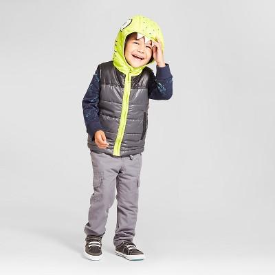 Toddler Boys' Monster Layering Vest Cat & Jack™ - Charcoal 4T
