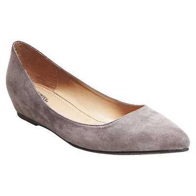 Women's Drew Pointed Toe Flats - Grey 7.5 - Merona™