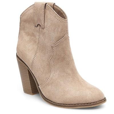 Women's Raelin Western Boots Taupe 7.5 - Merona™