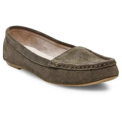 Women's Dorothy Suede Loafers - Green 7.5 - Merona™