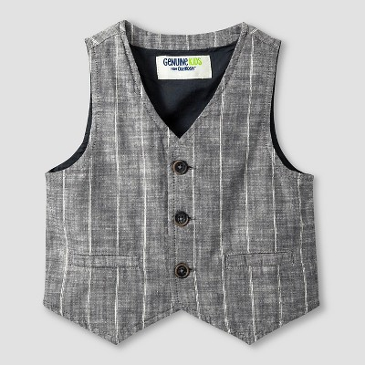 Baby Boys' Fashion Vest - Charcoal 12M - Genuine Kids™ from Oshkosh®